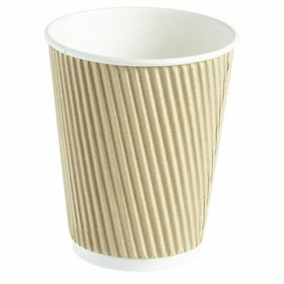 100 X Ripple Brown Kraft Insulated 8oz Cup