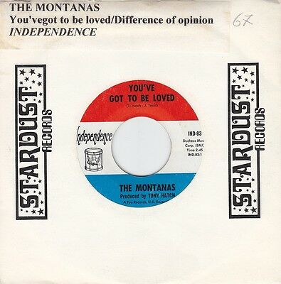 THE MONTANAS - you've got to be loved / difference of opinion 45""