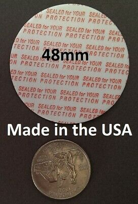 48mm Press & Seal Cap Liners ~ Foam Safety Tamper Seals ~ Made in the USA