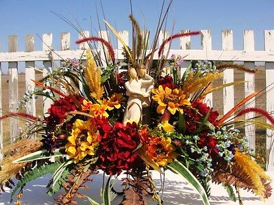 Willow Tree Figurines Tombstone Saddle Silk Fall Summer Flowers Red Gold Blue
