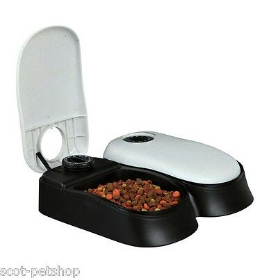 NEW Double Automatic Pet Feeder Dog Cat Timed Food Bowl