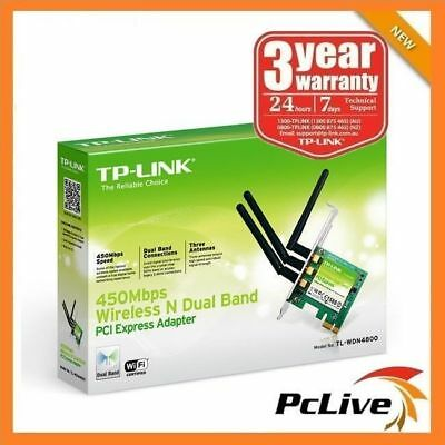 TP-Link TL-WDN4800 450Mbps Wireless N Dual Band 5GHz PCI-E Card Antenna Adapter