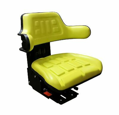 John Deere Tractor/Mower Suspension Seat Inc Angle Base Jd Yellow