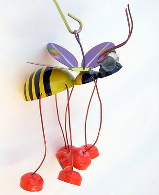 BEE GARDEN STAKE new colorful metal ornament for your home and garden