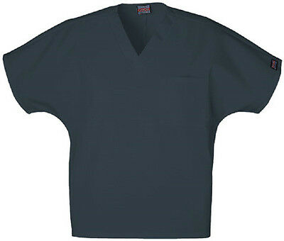 Scrubs Cherokee Workwear Unisex V-Neck Top 4777  Pewter  FREE SHIPPING!