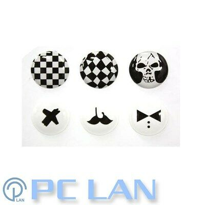 6 PCS Black and White A Home Button Sticker for iPhone 3G/3GS/4/4S + Bonus Set