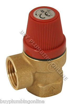 "Caleffi Pressure Relief Valve 1/2"" Female 8 Bar 311480"