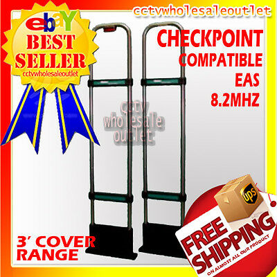 CHECKPOINT Compatible EAS Security System Double Antenna Anti Theft / Shop Lift