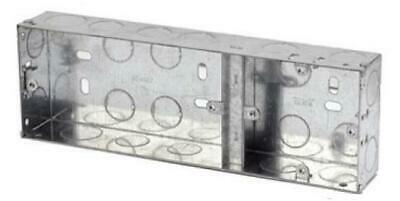 5 X  2+1 Metal 35MM Flush Boxes For 1 Single + 1 Twin Acces.