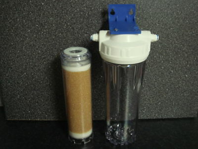 Refillable Inline cartridge filled with DI resin reverse osmosis systems / units