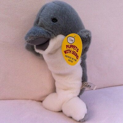 RARE RBI Dolphin Puppet Plush with Sound