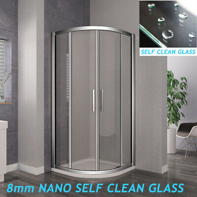 Offset Quadrant Shower Enclosure & Tray 8mm Easyclean Glass Screen Door Cubicle