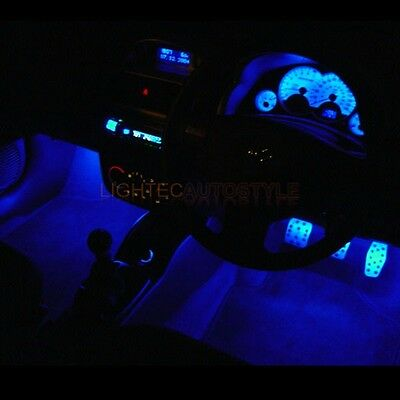 Peugeot 306 Blue Interior Footwell Neons And Led Speedo Dash Kit