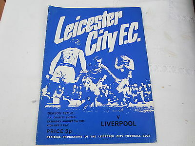1971-2  FA CHARITY SHIELD LEICESTER CITY v LIVERPOOL