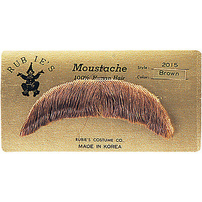 Human Hair Basic Character Moustache 60S 70S Costume Mustache Toupee Tape Hippie