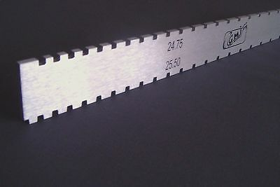 G.M.I.  guitar neck notched straight edge-25.5''-24.75'' scales-luthier tool