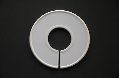 Qty: (30) - Size Ring Rack Divider Blank White Plastic Made In The Usa