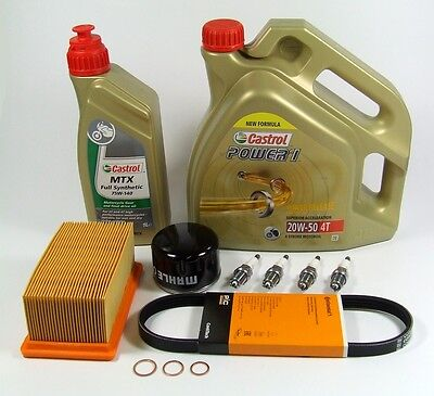 Wartung Paket Set Öl Filter Kerzen BMW R 1200 GS, GS Adventure 40.000km Castrol