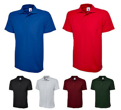 Mens Lightweight Polo T Shirts Size XS to 4XL BREATHABLE SPORTS WORK CASUAL 124
