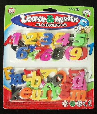 52 PCs Magnetic Magnets Magnet Letters Numbers Alphabet Small Lower Case