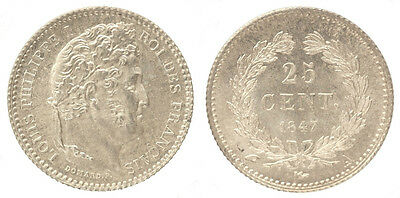 FRANCE 25 Centimes  LOUIS-PHILIPPE I 1847 A