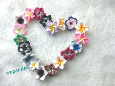 Wholesale  30 Pcs  Beautiful  21mm Mix Color Polymer Clay Flowers Beads