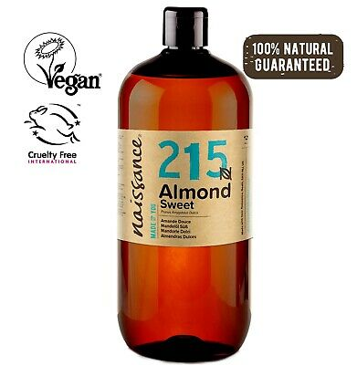 Naissance Sweet Almond Oil 1 Litre Ideal for Massage, Skincare & Haircare