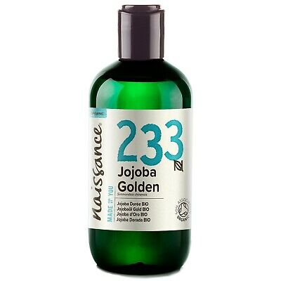 Naissance Jojoba Golden Certified Organic Oil 250ml Moisturises Hair & Skin