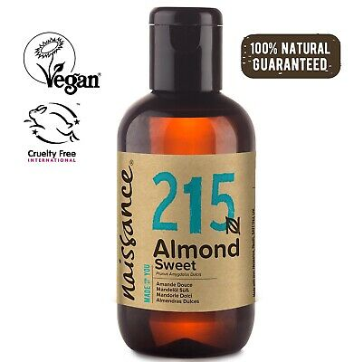 Naissance Sweet Almond Oil 100ml Ideal for Massage, Skincare & Haircare