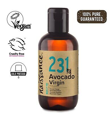 Naissance Avocado Virgin Oil 100ml Moisturising for Skin & Massage