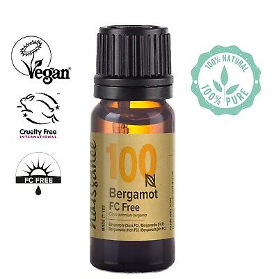 Naissance Bergamot FC-Free Essential Oil 10ml Use in Aromatherapy, Massage Blend