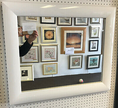 LARGE 33mm MODERN WENGE FRAMED WALL AND OVERMANTLE MIRRORS TRADE PRICED