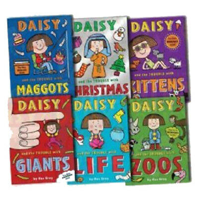 Daisy the Trouble Collection Pack, 6 Books Set By Kes Gray (Trouble with Maggot)