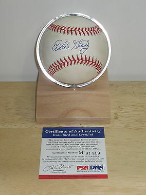 Eddie Stanky signed Official League baseball, Psa/Dna