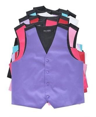 Boys' Poly Satin Solid Color Vest for Prom Wedding MANY Colors to Match With