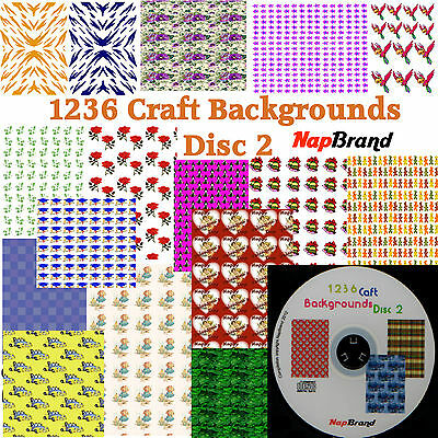 1236 Craft Backgrounds - Disc 2 on CD
