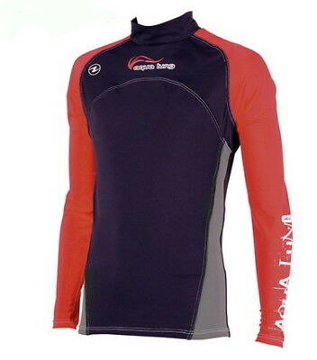 Aqualung REDNIGHT Lang RASH GUARD UV Shirt Herren Langarm RASHGUARD RED NIGHT