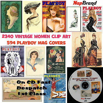 2340 Vintage Women Clip Art & 594 Play Boy Magazine Covers