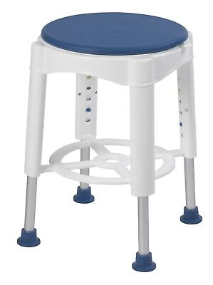 Bath Stool with Padded Rotating Seat Shower Seat Bathroom Safety Adjustable