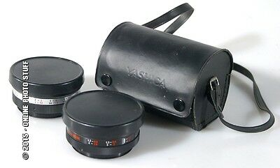 Wide Angle And Tele Auxiliary Lenses For Yashica In Case