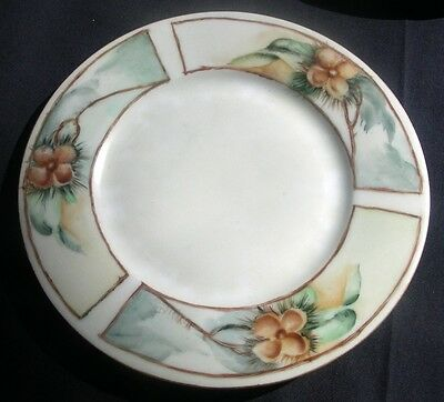 "Vintage SILESIA Hand Painted  Bread & Butter 6 3/4"" Plate"