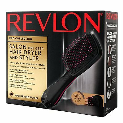 NEW! Revlon PRO COLLECTION One Step HAIR DRYER & STYLER Paddle & Hot Air Brush
