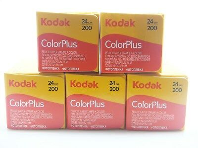 5 x KODAK COLORPLUS 200 35mm 24Exp CHEAP COLOUR PRINT FILM -1st CLASS ROYAL MAIL
