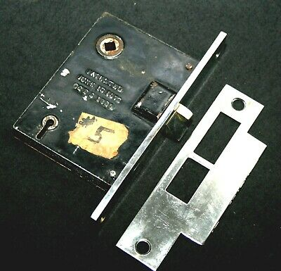 Mortise LOCK & matching Strikeplate, Sargent & Co, nickeled, c19th century
