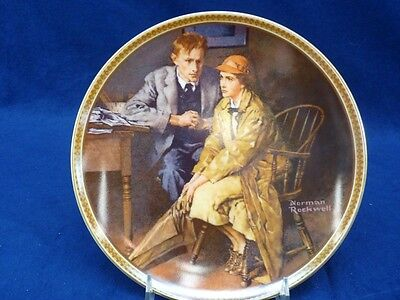 "Norman Rockwell ""Confiding in the Den"" Collector Plate Eleventh in Issue (177)"