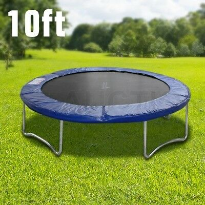 10ft Outdoor Round Trampoline Safety Replacement Spring Pad Cover Net