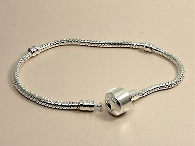 925 Sterling Silver Filled THREADED Starter Chain BRACELET fits European CHARMS