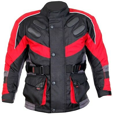 Kids motorcycle motorbike motocross textile jacket clothing waterproof CE Armour
