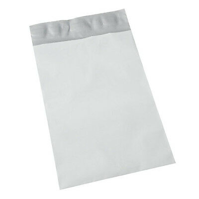 """300 10""""x13"""" WHITE MAILERS ENVELOPE POLY BAGS 300 10x13 GREY FLAT PLASTIC MAILERS"""
