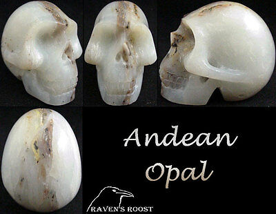 Carved Peruvian Opal Crystal Skull